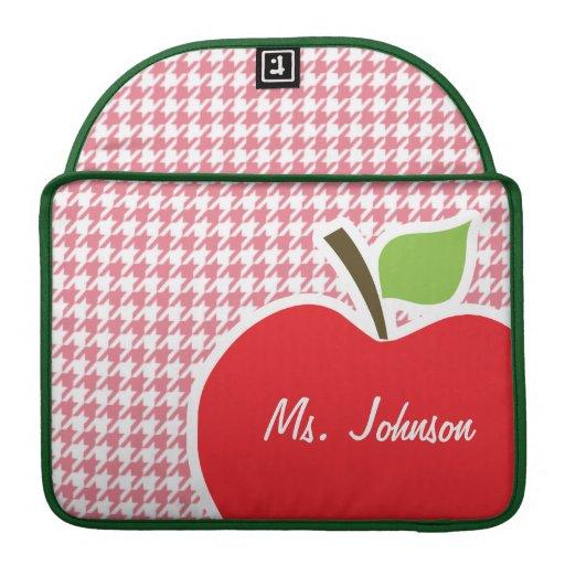 Erröten rosa Hahnentrittmuster; Apple MacBook Pro Sleeve