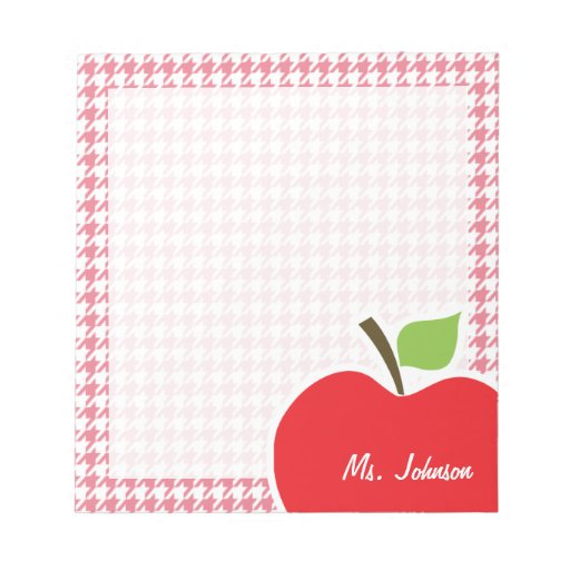 Erröten rosa Hahnentrittmuster; Apple Notiz Block