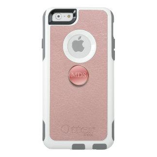 Erröten rosa Imitat-ledernes Monogramm 3D OtterBox iPhone 6/6s Hülle