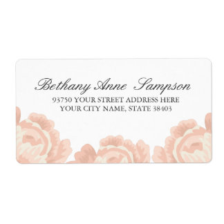 Erröten rosa Rosen-Adressen-Etiketten Versand Aufkleber