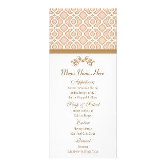 Erröten Rosa-und Goldmarokkaner-Menü Kartendruck