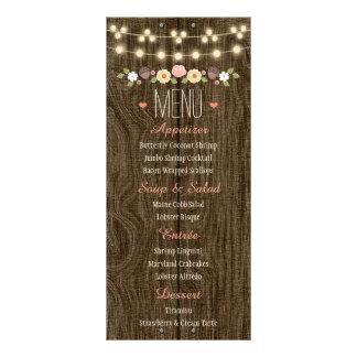 Erröten Schnur Licht-des rustikalen Hochzeit im Werbekarte