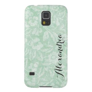 Erröten Vintages Blumendruck-Monogramm Hülle Fürs Galaxy S5