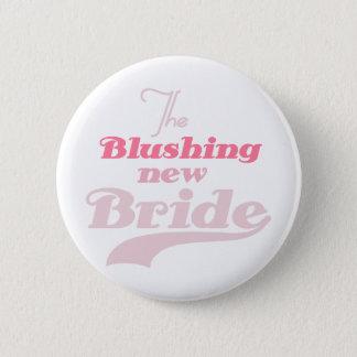 Errötende neue Braut Runder Button 5,7 Cm