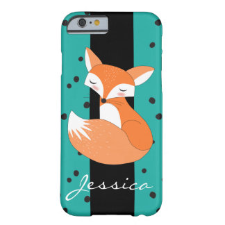 Errötender Fox mit individuellem Namen Barely There iPhone 6 Hülle
