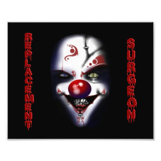 Ersatz-Chirurg - schlechter Clown Kunstfoto