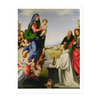 Erscheinung der Jungfrau zu Bernhardiner, 1504-07 Postkarte