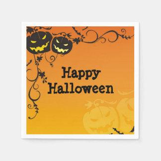 Erschreckende Kürbis-Halloween-Party-Servietten Serviette