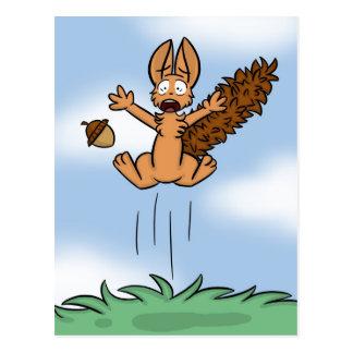 Erschrockene Eichhörnchen-Postkarte Postkarten
