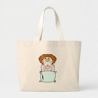 Erschrockene Lil Mädchen-Tasche Jumbo Stoffbeutel