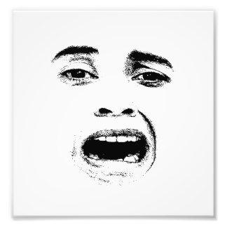 Erschrockener Frauen-Ausdruck Fotodruck