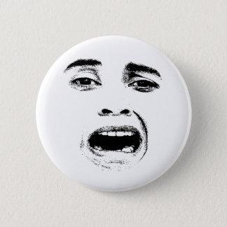 Erschrockener Frauen-Ausdruck Runder Button 5,1 Cm