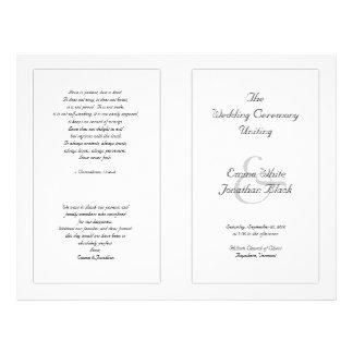Erschwingliche Zeremonie-Schwarzweiss-Schablone 21,6 X 27,9 Cm Flyer
