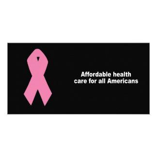 Erschwingliches Gesundheitswesen für alle Amerikan Individuelle Photo Karten