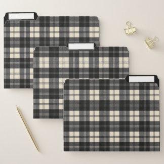 Erskine moderner schottischer Schwarzweiss-tartan Papiermappe
