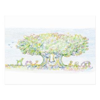 Erstaunlicher Baum Postkarten