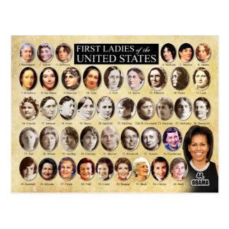 Erste Damen des USA Postkarte