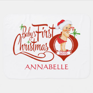 Erste Decke des Babys Weihnachts