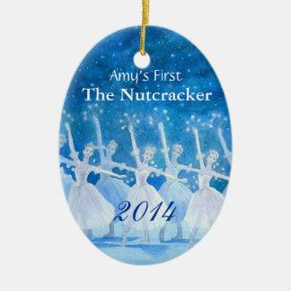 Erste der Nussknacker-Verzierung Ihres Tänzers Ovales Keramik Ornament