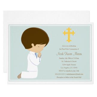 Erste heilige Kommunion - blaue | Einladung
