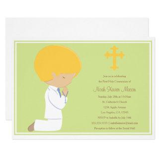 Erste heilige Kommunion - Einladung des Grün-|