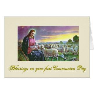Erste heilige Kommunion - für Glückwünsche - Karte