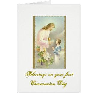 Erste heilige Kommunion - Glückwünsche - Karte