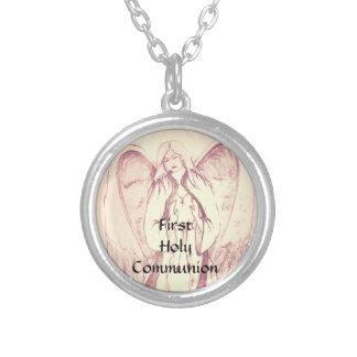 Erste heilige Kommunion Versilberte Kette