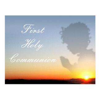 Erste heilige Kommunions-Einladung Postkarte