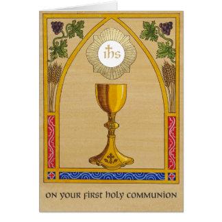 Erste heilige Kommunions-Karte Karte