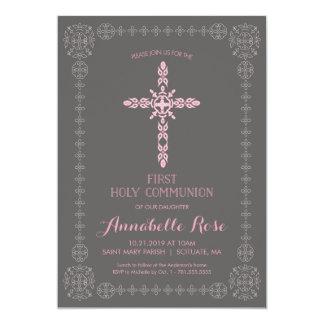 Erste heilige Kommunions-Mädchen-Einladung mit 12,7 X 17,8 Cm Einladungskarte