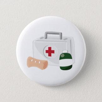 Erste Hilfe Runder Button 5,7 Cm