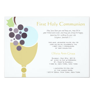 Erste Kommunion 12,7 X 17,8 Cm Einladungskarte