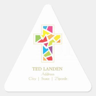 Erste Kommunions-Adresse der Dreieckiger Aufkleber