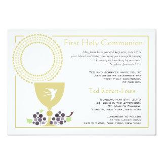 Erste Kommunions-Einladung 12,7 X 17,8 Cm Einladungskarte