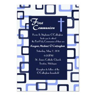 Erste Kommunions-Einladung - Junge 12,7 X 17,8 Cm Einladungskarte