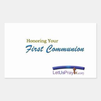 Erste Kommunions-Feier 2 fca3 Rechteckige Aufkleber