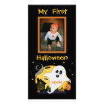 Erste kundenspezifische Foto-Karte Halloweens