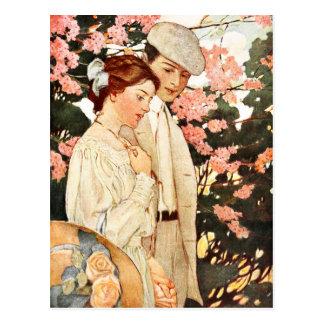 Erste Liebe und bloße Verzauberung Postkarte