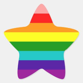 Erste Regenbogen-Gay Pride-Flagge Stern-Aufkleber
