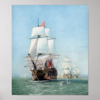 Erste Reise der HMS Victory Poster