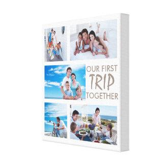 Erste Reise-zusammen Foto-Collagen-Leinwand Leinwanddruck
