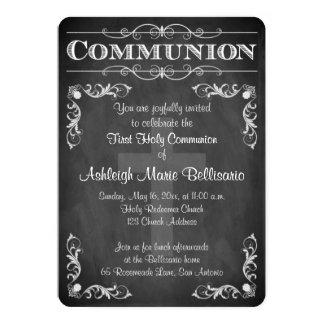 Erste Rolle der heiligen Kommunions-| der Tafel-| 12,7 X 17,8 Cm Einladungskarte