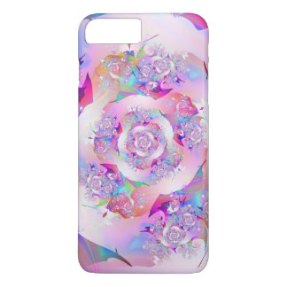 Erste Rosen-feine Fraktal-Kunst iPhone 8 Plus/7 Plus Hülle