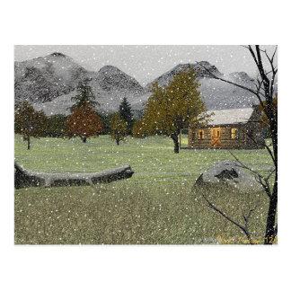 Erste Schneefall-Postkarte Postkarte
