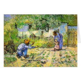 Erste Schritt-(nach Hirse) Van- Goghschöne Kunst Karte
