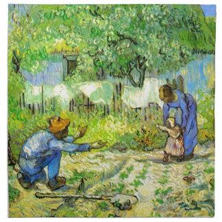 Erste Schritte, Vincent van Gogh 1890. Stoffserviette