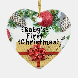 Erste Verzierung des kundenspezifischen Babys Keramik Ornament