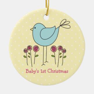Erste Verzierung des niedlichen Vogel-Babys Keramik Ornament