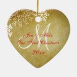 Erste Verzierung des Vintagen Paares Weihnachts Weihnachtsornament
